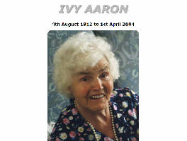 In Memory of Ivy Aaron neé Knapton of Knottingley